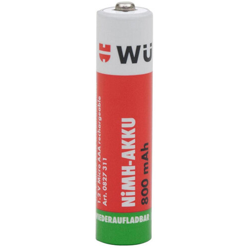 Wurth Pre-charged NiMH Battery - BTRY-NIMH-MICRO-AAA-PRECHAR-1,2V-800MAH Ref. 0827311 PACK OF 4