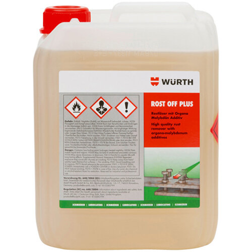 Wurth Rust Remover Rost-Off Plus - PENTOIL-(ROST-OFF-PLUS)-Canister-5LTR Ref. 0890300
