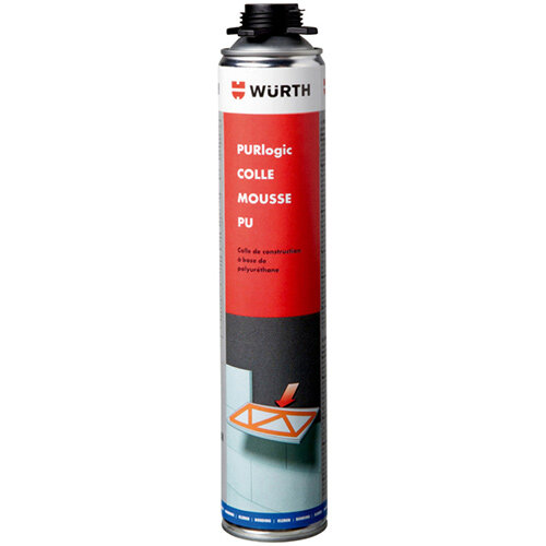 Wurth PURLOGIC PU Foam Adhesive - ADH-INSUSHT-1C-FOAM-PU-ORANGE-800ML Ref. 0892152125