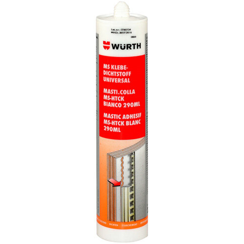 Wurth MS Hightack structural Adhesive - STRUCADH-(MS-HIGHTACK)-WHITE-290ML Ref. 0893225105