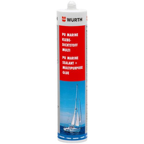 Wurth PU Marine Adhesive Sealant Multi - STRUCADH-(MARINE-MULTI-BS)-BLACK-310ML Ref. 08932913 PACK OF 12