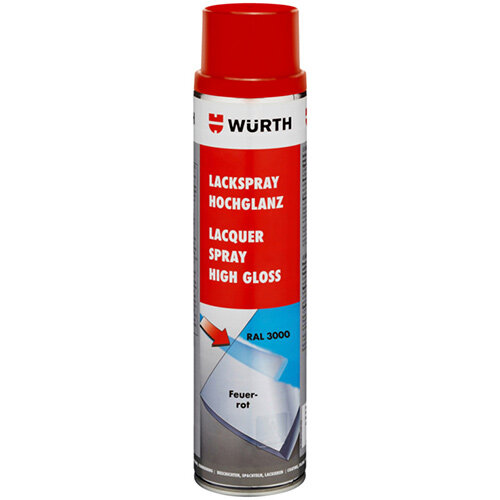 Wurth Paint Spray, High Gloss - PNTSPR-R3000-FLAMERED-600ML Ref. 0893333000