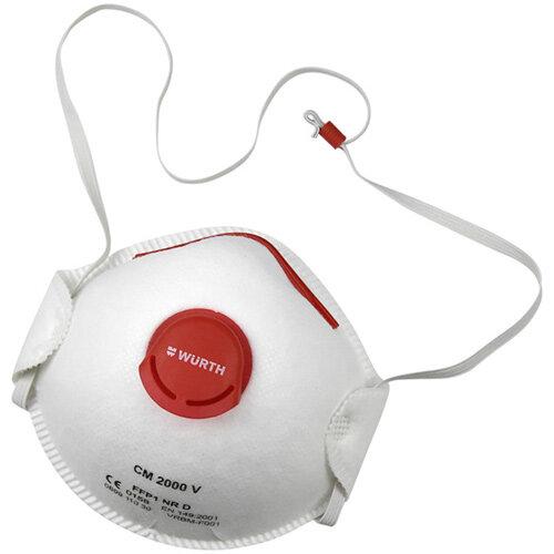 Wurth Disposable Breathing Mask FFP2 CM 2000 With Valve - BREAMASK-VLVE-CM2000-EN149-(FFP2-NR-D) Ref. 0899110303 PACK OF 10