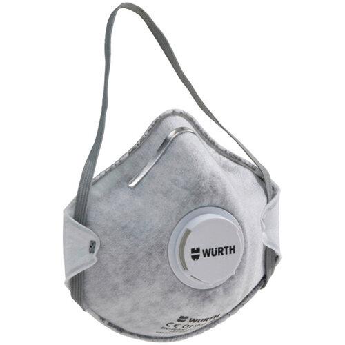 Wurth Cup-Shaped Mask CM 3000, carbon V FFP2 NR D - BREAMASK-CM3000-CARBON-VALVE-FFP2 Ref. 0899110504 PACK OF 15