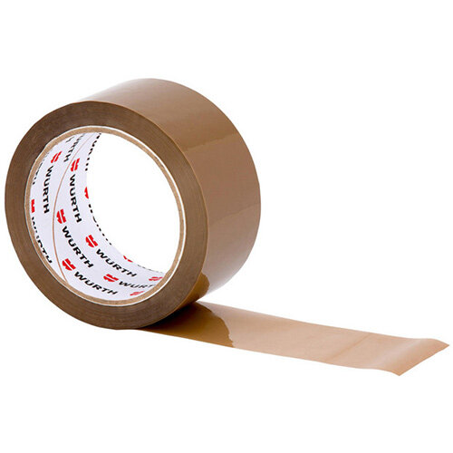 Wurth PP Packing Tape - PCKTPE-POLYPROPYLEN-BROWN-50MMX66M Ref. 09850502 PACK OF 6