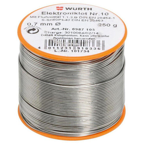 Wurth Electronic Solder no. 10 - SLDR-NO10-SN60/PB40-250G-D0,7 Ref. 0987105 PACK OF 20