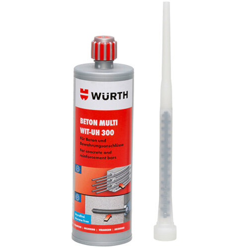 Wurth Multi Concrete Chemical Injection Mortar WIT-UH 300 - ANC-MORT-(WIT-UH300)-CART-420ML Ref. 5918500420 PACK OF 12