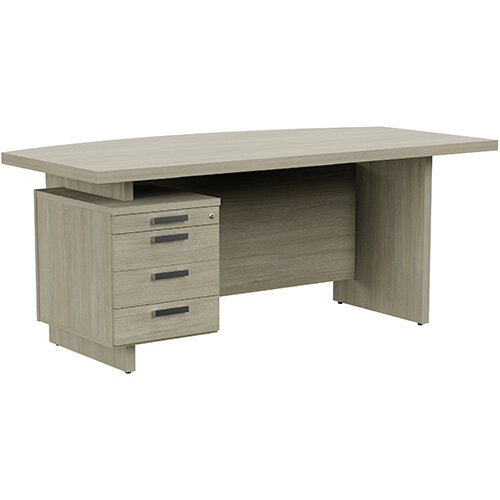Grand Executive Office Desk With Left Side Drawers 1800mm Arctic Oak