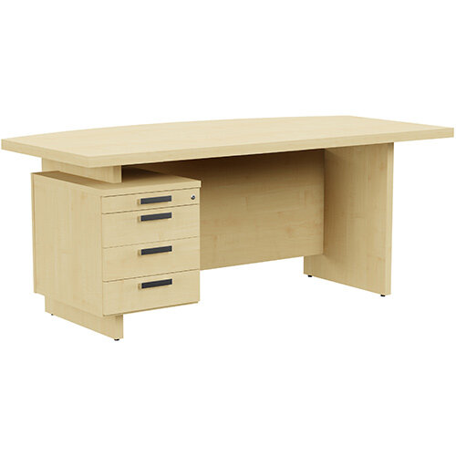 Grand Executive Office Desk With Left Side Drawers 1800mm Maple