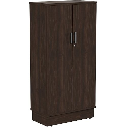 Grand Tall Cupboard With Lockable Doors W805xD420xH1615mm Dark Walnut