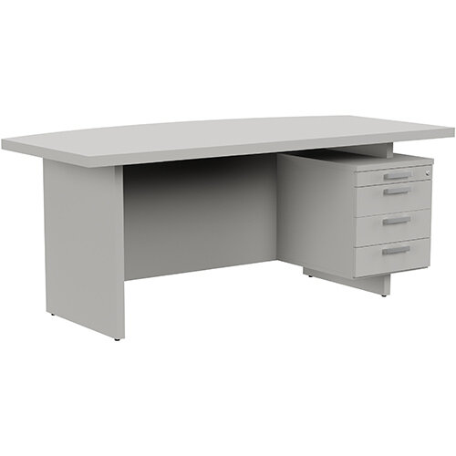 Grand Executive Office Desk With Right Side Drawers 1800mm Grey