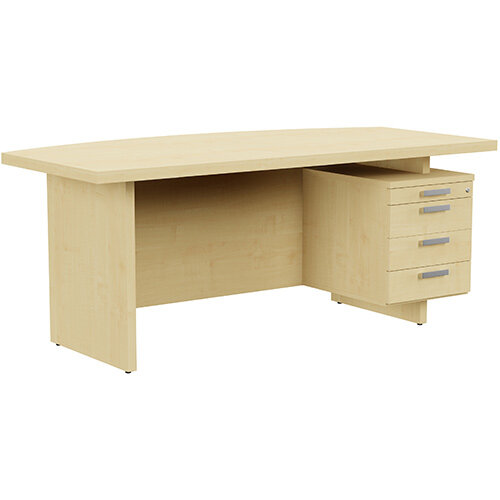 Grand Executive Office Desk With Right Side Drawers 1800mm Maple