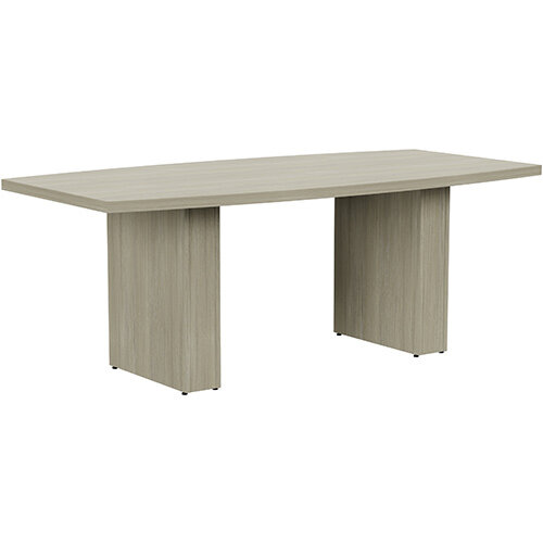 Grand 2000mm Arctic Oak Boat-Shaped Boardroom &Meeting Table