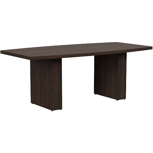 Grand 2000mm Dark Walnut Boat-Shaped Boardroom &Meeting Table