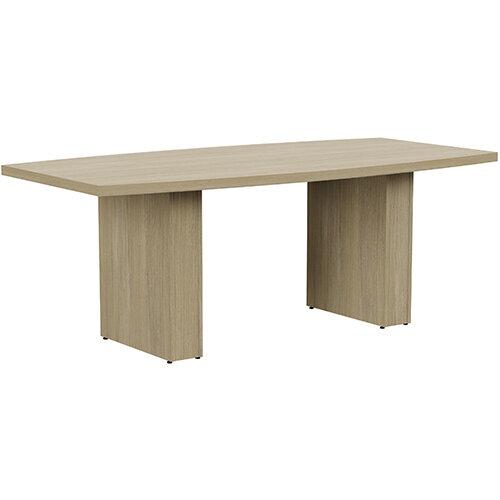 Grand 2000mm Urban Oak Boat-Shaped Boardroom &Meeting Table