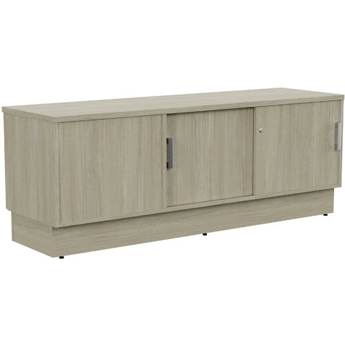 Grand Right Hand Side Large Credenza Unit With Sliding Doors &Back Door W1650xD480xH620mm Arctic Oak