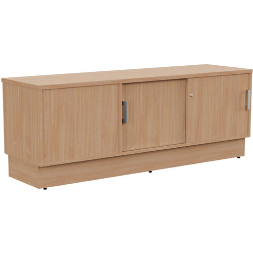 Grand Right Hand Side Large Credenza Unit With Sliding Doors &Back Door W1650xD480xH620mm Beech