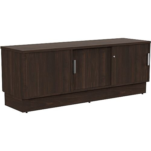 Grand Right Hand Side Large Credenza Unit With Sliding Doors &Back Door W1650xD480xH620mm Dark Walnut