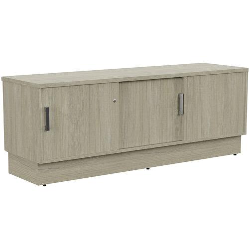 Grand Left Hand Side Large Credenza Unit With Sliding Doors &Back Door W1650xD480xH620mm Arctic Oak