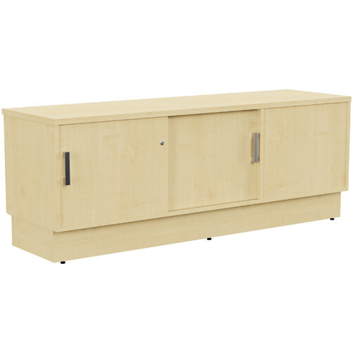 Grand Left Hand Side Large Credenza Unit With Sliding Doors &Back Door W1650xD480xH620mm Maple