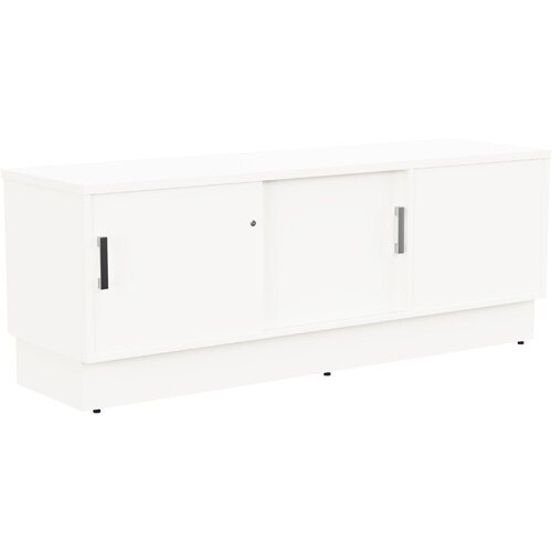 Grand Left Hand Side Large Credenza Unit With Sliding Doors &Back Door W1650xD480xH620mm White