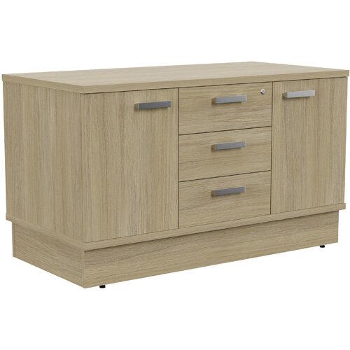 Grand 2 Door &3 Drawer Credenza Unit W1200xD600xH705mm Urban Oak