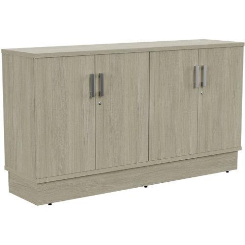 Grand 4 Doors Credenza Cabinet W1605xD420xH895mm Arctic Oak