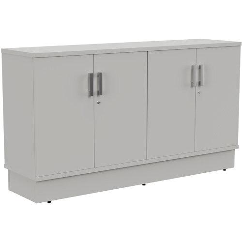 Grand 4 Doors Credenza Cabinet W1605xD420xH895mm Grey