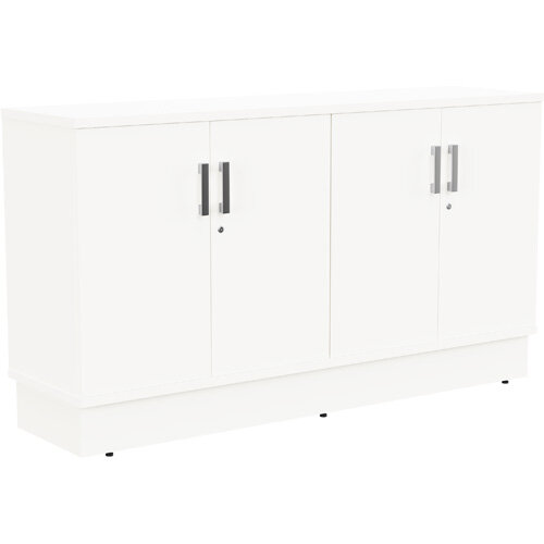 Grand 4 Doors Credenza Cabinet W1605xD420xH895mm White