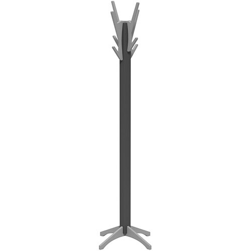 SOVE Coat Stand with Anthracite Frame &Silver Hooks