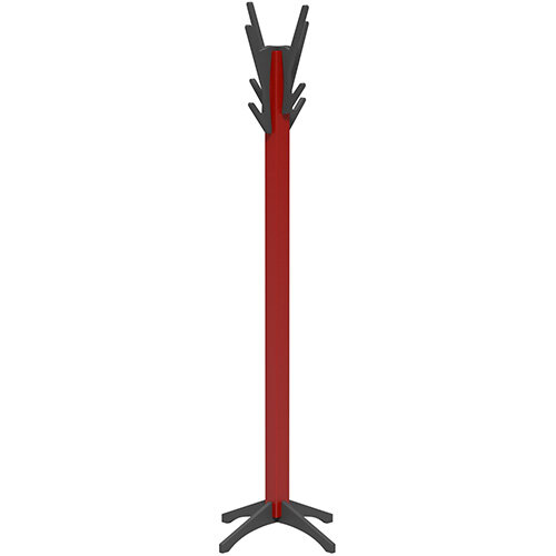 SOVE Coat Stand with Red Frame &Anthracite Hooks