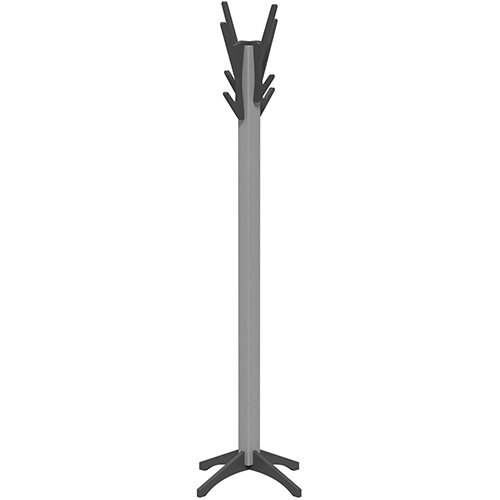 SOVE Coat Stand with Silver Frame &Anthracite Hooks