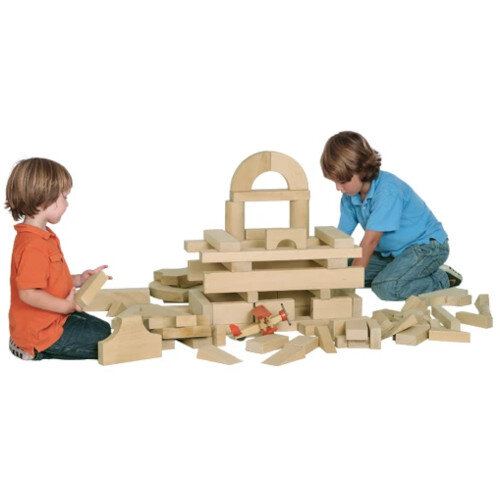 Introductory Wooden Block Set 92 Pieces Ref WWFB0305