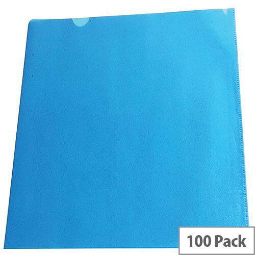 Cut Flush Folder Blue A4 Pack of 100 WX01486