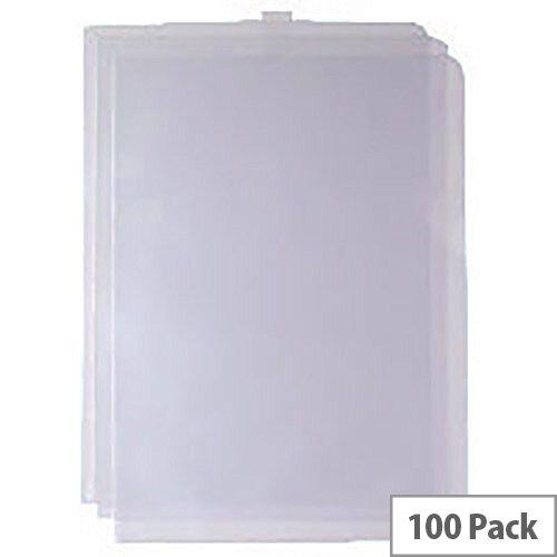 Cut Flush Folder Transparent A4 Pack of 100 WX24002