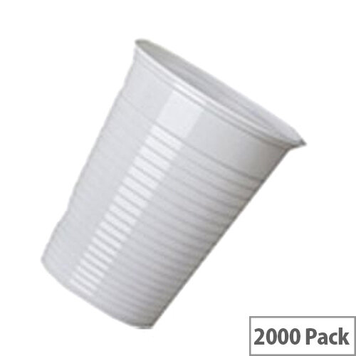 MyCafe Disposable Plastic Drinking Cups 7oz/200ml White [Pack of 2000] Ref 5644