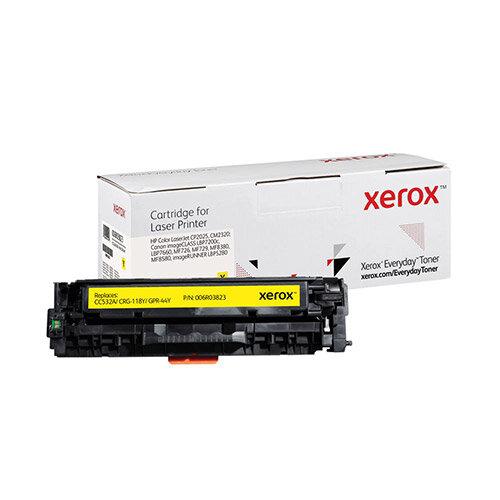 Xerox Everyday HP CC532A/CRG-118Y/GPR-44Y Laser Toner Cartridge Yellow 006R03823