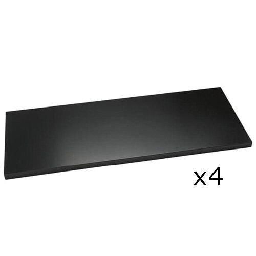 Bisley Standard Shelf For 1000mm Wide Cupboards & Tambour Units Black Pack of 4