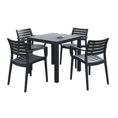 Artemis Dining Set Black - Suitable for Indoor & Outdoor Use