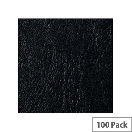 Acco GBC Binding Cover A5 Black Pack of 100 4400017