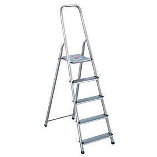 Alumiunium Step Ladder 6 Steps Plus Height 1.19m Silver 358740