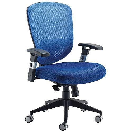 Arista Mesh High Back Task Operator Office Chair Blue KF72243