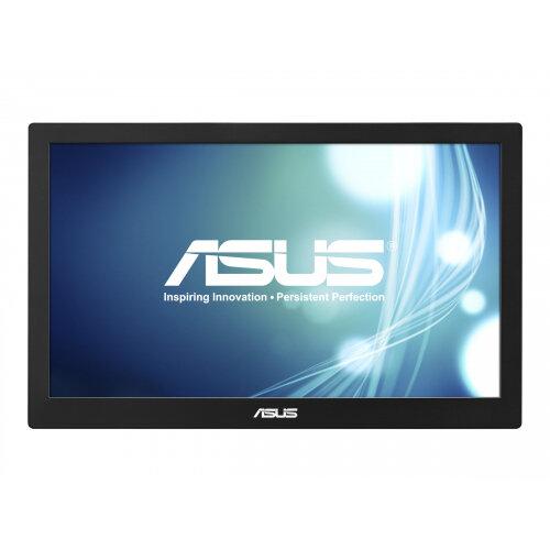 "ASUS MB168B - LED Computer Monitor - 15.6"" (15.6"" viewable) - portable - 1366 x 768 - TN - 200 cd/m² - 11 ms - USB - black/silver"