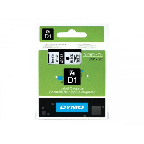 DYMO D1 - Self-adhesive - black on white - Roll (0.9 cm x 7 m) 1 roll(s) label tape - for LabelMANAGER 160, 210D, 210D Kit, 210D Kit Case, 280, 360D, 420P, 420P Kit, 500TS, PnP