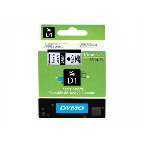 DYMO D1 - Glossy - black on white - Roll (1.9cm x 7m) 1 roll(s) tape