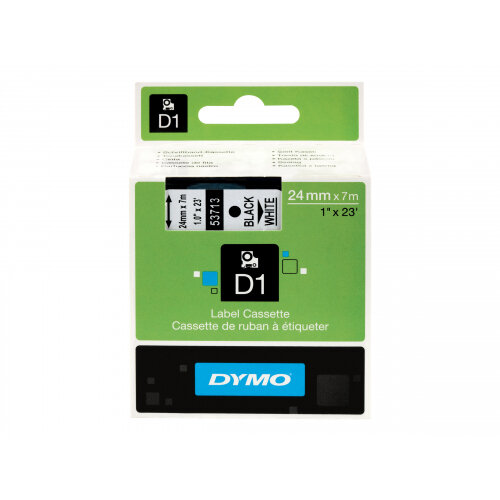 DYMO D1 - Glossy - black on white - Roll (2.4 cm x 7 m) 1 roll(s) tape - for LabelMANAGER