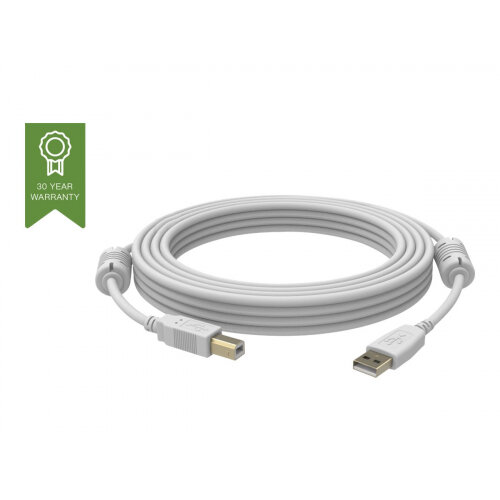 Vision Techconnect - USB cable - USB Type B (M) to USB (M) - USB 2.0 - 2 m - white