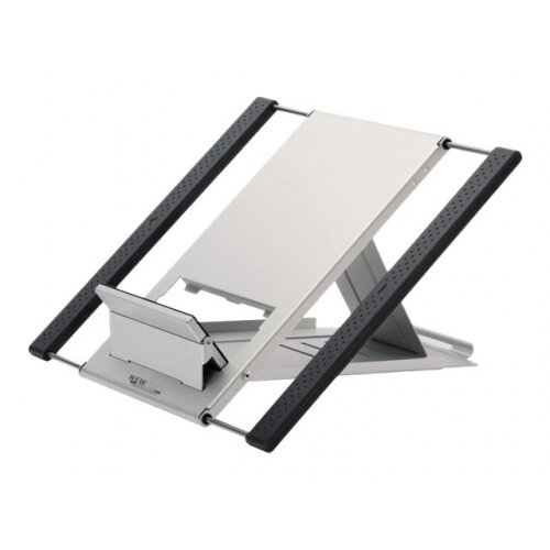 "NewStar Portable Laptop and Tablet Desk Stand - Silver - Stand for notebook / tablet - neoprene - silver - screen size: 10""-22"" - table-top"