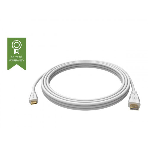 VISION Techconnect - HDMI with Ethernet cable - mini HDMI (M) to HDMI (M) - 5 m - white