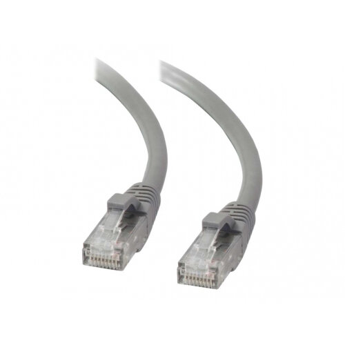 C2G Cat5e Booted Unshielded (UTP) Network Patch Cable - Patch cable - RJ-45 (M) to RJ-45 (M) - 2 m - UTP - CAT 5e - molded, snagless, stranded - grey